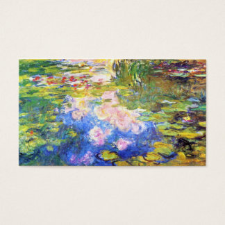 Water Lily Pond Claude Monet painting art Business Card