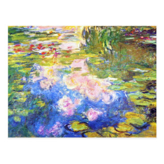 Water Lily Pond Claude Monet Postcard