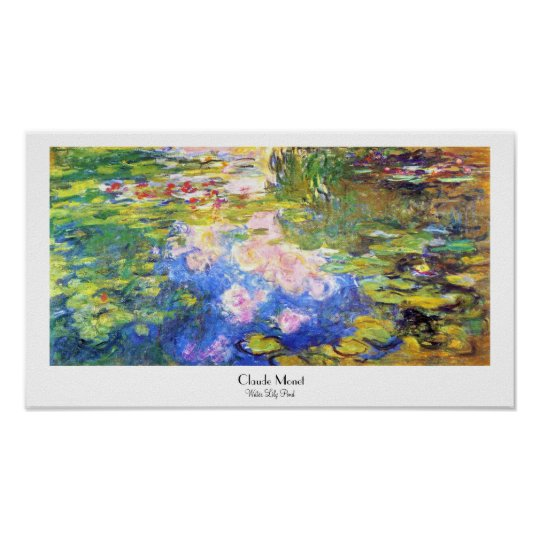 Water Lily Pond Claude Monet Poster
