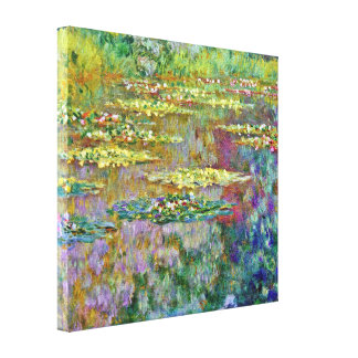Water Lily Pond Fine Art Canvas Print