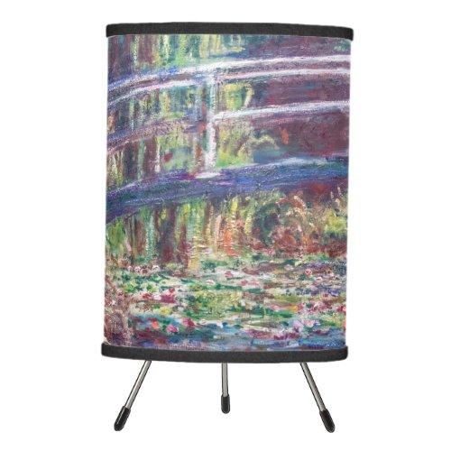 Water Lily Pond Harmonie Rose Monet Tripod Lamp