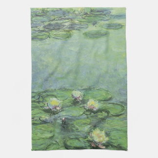 Water Lily Pond Impressionism Kitchen Towels