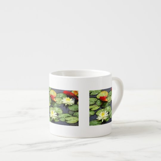 Water Lily Pond in Autumn Espresso Cup