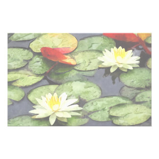 Water Lily Pond in Autumn Stationery