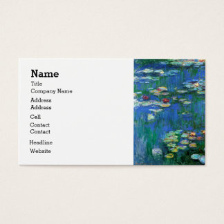 Water Lily Pond in Blue Monet Fine Art Business Card