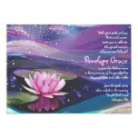 Water Lily Pond Jewish Baby Naming Invitation