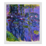 Water Lily Pond Reflections Claude Monet Fine Art Poster