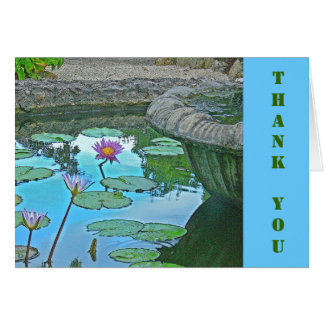 """""""Water Lily Pond"""" Thank You Card"""