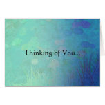 Water Lily Pond - Thinking of You... Card