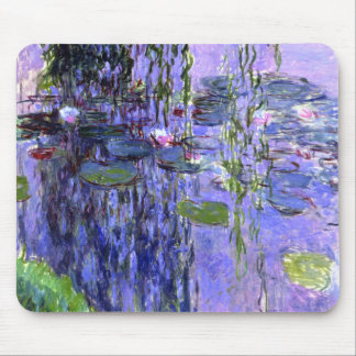 Water Lily Pond Violet Reflections Impressionism Mouse Pad
