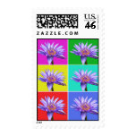 Water Lily Pop Art 4 Postage