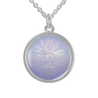 Water Lily Reflected Sterling Silver Necklace