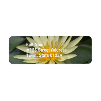 Water Lily Return Address Label