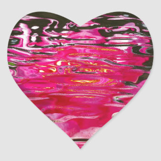 Water Lily Ripples Heart Sticker