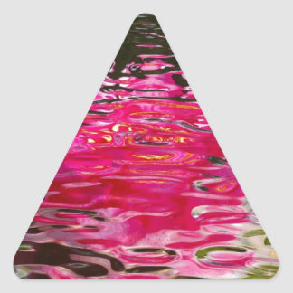 Water Lily Ripples Triangle Sticker