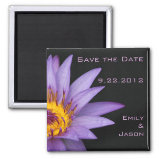 Water Lily Save the Date Magnet