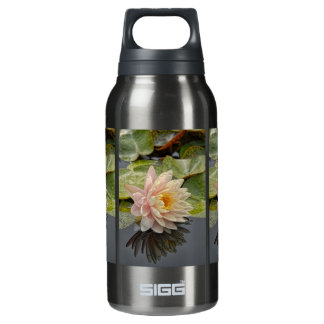 Water Lily Single Pink Reflection Insulated Water Bottle