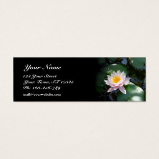 Water Lily Skinny Business Card