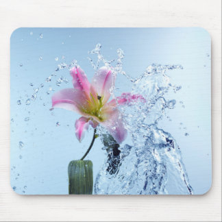 Water Lily Splash Mouse Pad