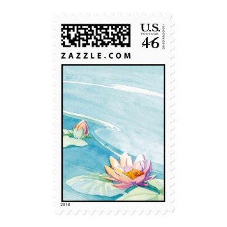 water lily stamp stamp