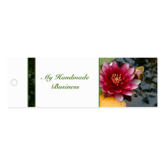 Water Lily Tag Mini Business Card