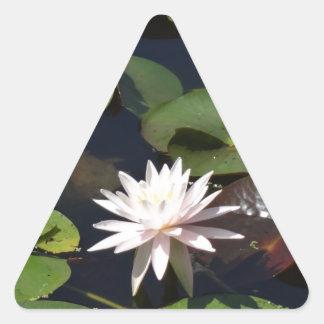 Water Lily Triangle Sticker