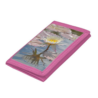 Water Lily Trifold Wallet