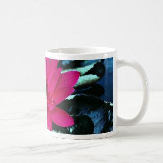 Water lily, tropical night coffee mug