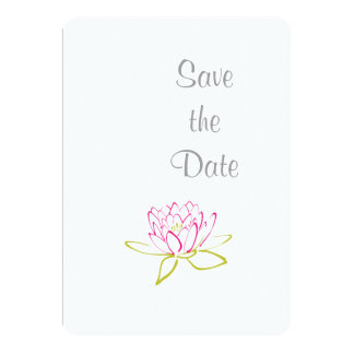 Water Lily Wedding Day Theme Save the Date Card