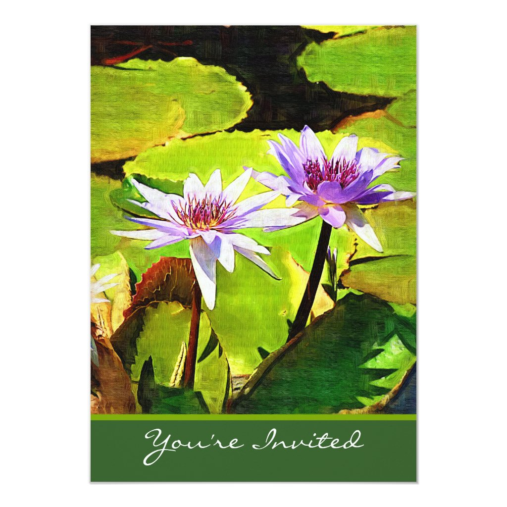 Water Lily Wedding Invitation