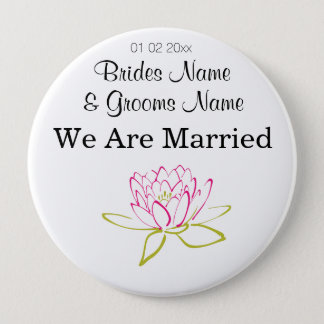 Water Lily Wedding Souvenirs Keepsakes Giveaways Button