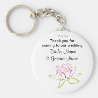 Water Lily Wedding Souvenirs Keepsakes Giveaways Keychain