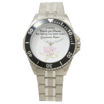 Water Lily Wedding Souvenirs Keepsakes Giveaways Wrist Watch