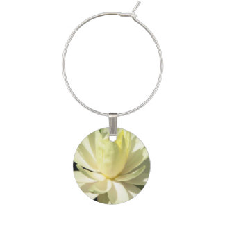 Water Lily Wine Glass Charm