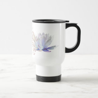 Water Lily with Decorative Swirls 15 Oz Stainless Steel Travel Mug