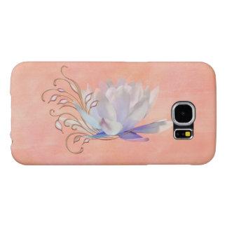 Water Lily with Decorative Swirls Samsung Galaxy S6 Case