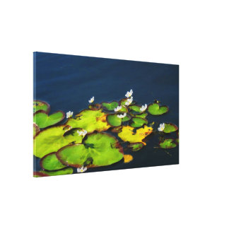 Water Lily Wrapped Canvas Print