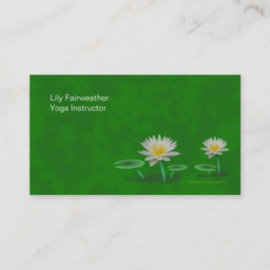 Water lily yoga teacher business cards template zazzle water lily yoga teacher business cards template accmission Images