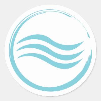 Water Logo Round Sticker
