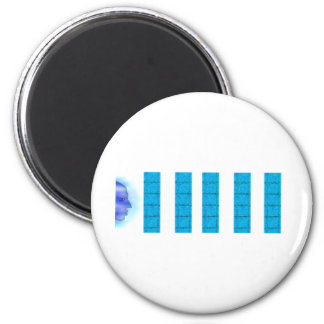 Water Magic Head Right 2 Inch Round Magnet