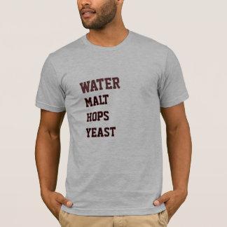 Water Malt Hops Yeast Shirt