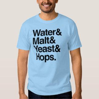 Water & Malt & Yeast & Hops T-shirt