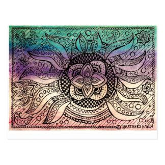 Water Mandala Post Card