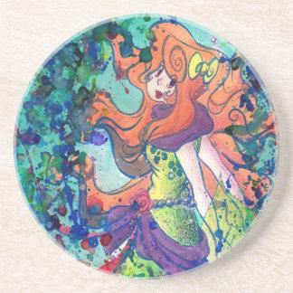 Water Mermaid Coaster Drink Coaster