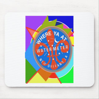 Water Meter Abstract New Orleans Mouse Pad