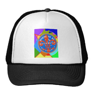 Water Meter Abstract New Orleans Trucker Hat