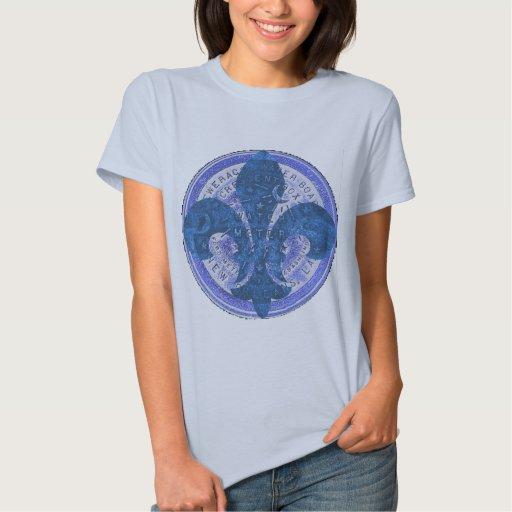 Water Meter Blue Fleur De Lis T Shirt