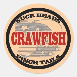 Water Meter Cover Crawfish Classic Round Sticker