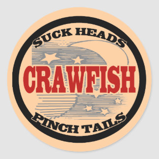 Water Meter Cover Crawfish Round Sticker