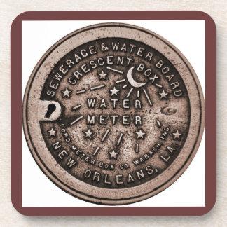 Water Meter Lid Bourbon St. Coaster
